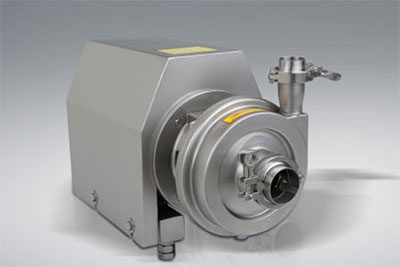 What are the main components of sanitary pumps